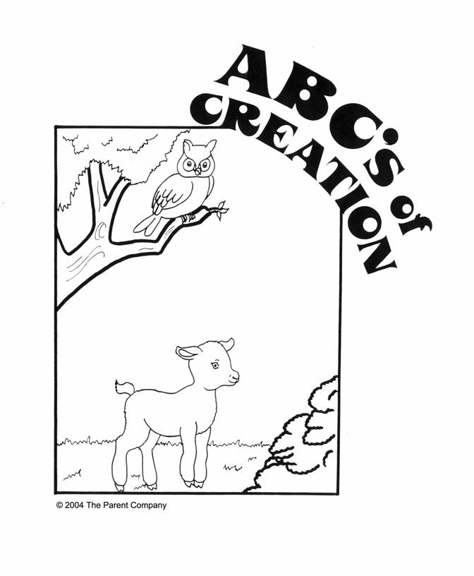 The ABC\'s of Creation - Coloring Book